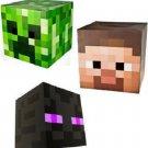 Minecraft Steve Creeper and Enderman Head Costume Mask Set of 3