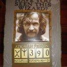 Sirius Black Azkaban Wanted Poster Frame Wizarding World of Harry Potter