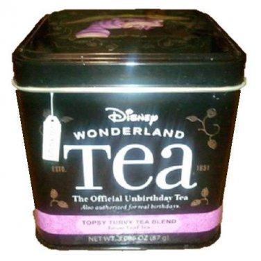 Disney Alice In Wonderland Topsy Turvy Blend Loose Leaf Tea Cheshire Cat Tin