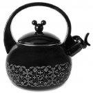 Disney World Mickey Mouse Black Gourmet Tea Kettle Pot Teapot