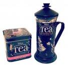 Disney Alice In Wonderland Tea Press with Topsy Turvy Tea Gourmet Gift Set