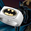 Batman Framed Emblem Ring Noble Collection DC Dark Knight Rises Begins Steel