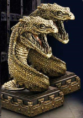 Harry Potter Basilisk Bookends Set Noble Collection Wizarding Chamber of Secrets