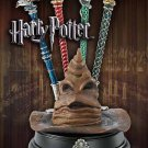 Harry Potter Sorting Hat Display and Four Hogwarts Pen Set Noble Collection