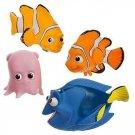 Finding Nemo Bath Tub Pool Toy Play Set 4  Pieces Dory Marlin Disney Parks