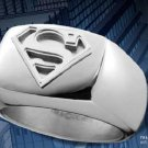 Superman Stainless Steel Emblem Ring DC Man of Steel Noble Collection