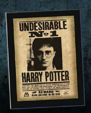 Undesirable No 1 Number One Wanted Poster Harry Potter ...