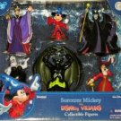 Sorcerer Mickey Villians Figures Playset Cake Toppers Disney Parks