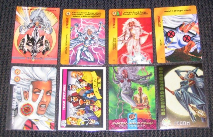 Storm Cards- Masterpieces X-Men Chromium Lot of 8 NM-M