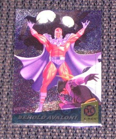 X-Men, 1994 Fleer Ultra Fatal Attractions Card #1- Behold Avalon! NM