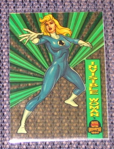 Marvel Universe 1994 (Fleer) Suspended Animation Card #3- Invisible Woman NM-M