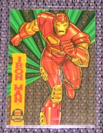 Marvel Universe 1994 (Fleer) Suspended Animation Card #4- Iron Man NM