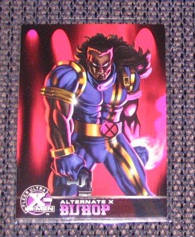 X-Men All Chromium, Fleer Ultra 1995 - Alternate X Embossed Card #3- Bishop VG