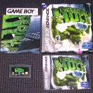 HULK, the Incredible- Game Boy Advance- Game/Box/Poster/Booklet USED