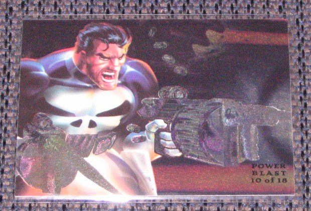 1994 Flair Marvel Universe (Fleer) Power Blast Card #10- Punisher NM
