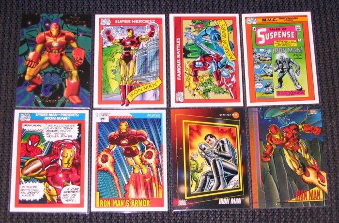 Iron Man Lot of 8 Cards