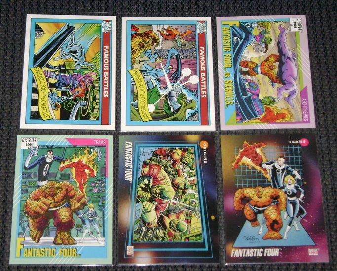 Fantastic Four Cards- Marvel Universe- Lot of 6 NM-M