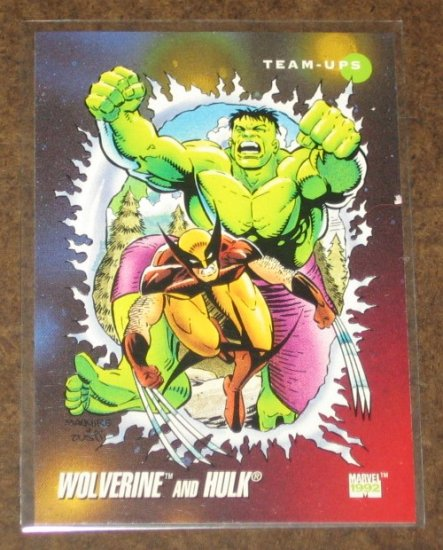 Marvel Universe Series 3 (Impel 1992) Card #76- Wolverine and Hulk NM
