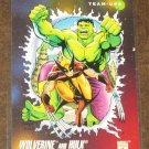 Marvel Universe Series 3 (Impel 1992) Card #76- Wolverine and Hulk NM