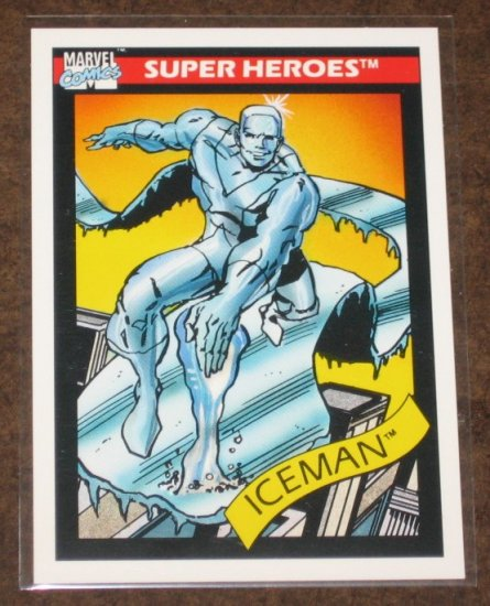 Marvel Universe Series 1 (Impel 1990) Card #22- Iceman NM