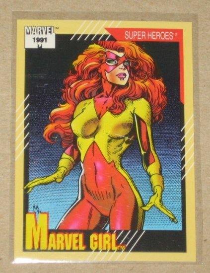 Marvel Universe Series 2 (Impel 1991) Card #4- Marvel Girl NM