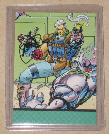 X-Men Series 1 (Impel 1992) Card #98- Danger Room #8 Cable NM