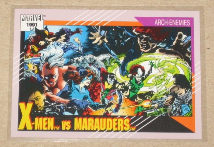 Marvel Universe Series 2 (Impel 1991) Card #117- X-Men vs. Marauders NM