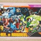 Marvel Universe Series 2 (Impel 1991) Card #117- X-Men vs. Marauders NM