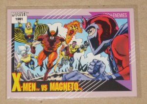 Marvel Universe Series 2 (Impel 1991) Card #125- X-Men vs. Magneto NM