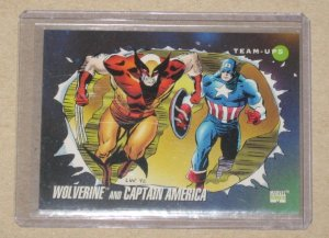 Marvel Universe Series 3 (Impel 1992) Card #75- Wolverine and Captain America NM