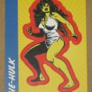 70 Years of Marvel Comics (Rittenhouse 2010) Sticker Card S10- She-Hulk EX-MT