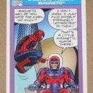 Marvel Universe Series 1 (Impel 1990) Card #156- Spider-Man Presents: Magneto EX-MT