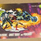 Marvel Universe Series 3 (Impel 1992) Card #88- Wolverine, Ghost Rider and Punisher EX-MT