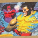 X-Men, 1995 Fleer Ultra Card #134- Magneto vs. Wolverine EX-MT