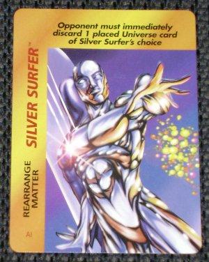 Marvel OverPower (Fleer 1995) - Silver Surfer Rearrange Matter NM