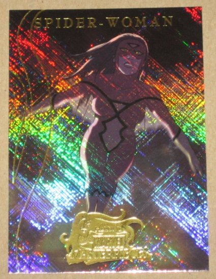 Marvel Masterpieces Set 2 (Upper Deck 2008) Heroines Chase Card MH 8 - Spider Woman EX-MT