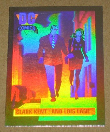 DC Cosmic Cards (Impel 1991) Hologram Card DCH1- Clark Kent and Lois Lane EX-MT