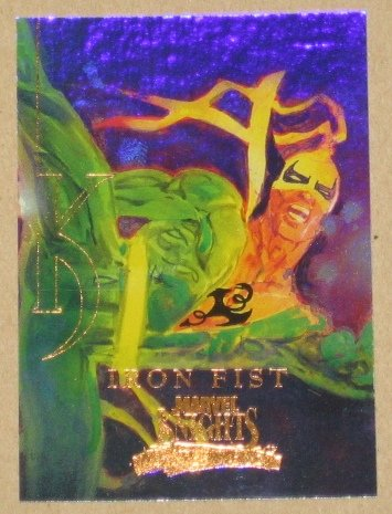 Marvel Masterpieces Set 3 (Upper Deck 2008) Knights Chase Card MK 6 - Iron Fist EX