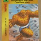 Marvel OverPower (Fleer 1995) - Thing Temper Tantrum Card NM