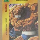 Marvel OverPower (Fleer 1995) - Thing Clobberin' Time Card NM