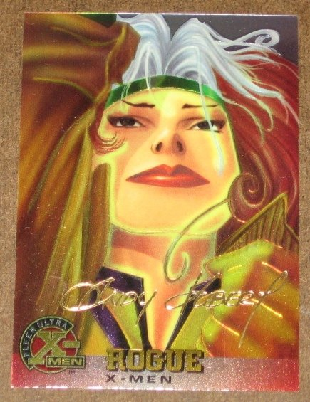 X-Men All Chromium, Fleer Ultra 1995 - Gold-foil Signature Card #11- Rogue EX-MT
