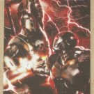 Marvel Heroes and Villains (Rittenhouse 2010) Parallel Card #27- War Machine vs. Ares NM