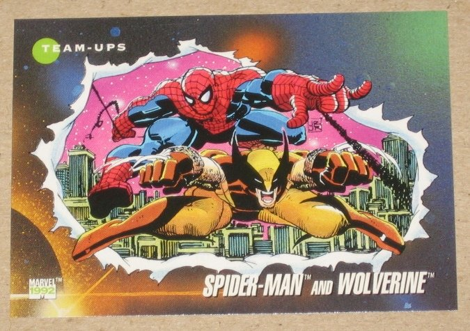 Marvel Universe 3 (Impel 1992) Card #74- Spider-Man and Wolverine NM
