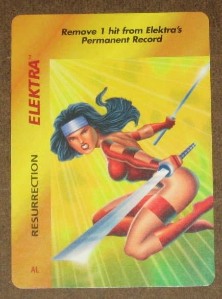 Marvel OverPower (Fleer 1995) - Elektra Resurrection Card NM