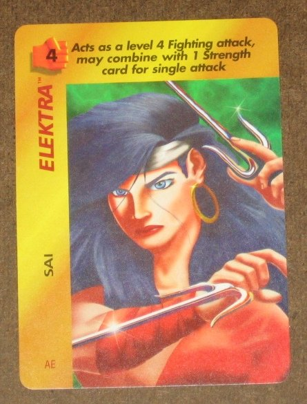 Marvel OverPower (Fleer 1995) - Elektra Sai Card NM