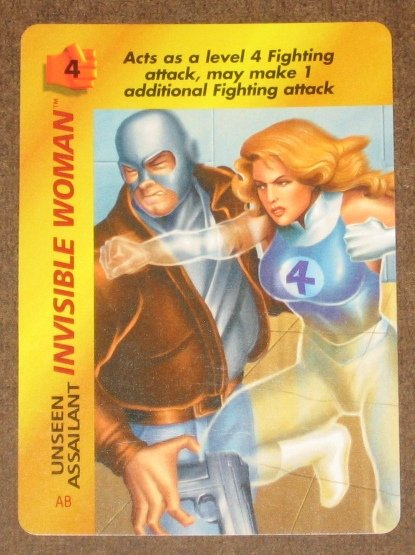 Marvel OverPower (Fleer 1995) - Invisible Woman Unseen Assailant Card NM