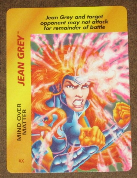 Marvel OverPower (Fleer 1995) - Jean Grey Mind Over Matter Card NM