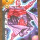 Marvel OverPower (Fleer 1995) - Universe EM Force Lines Magneto Card NM