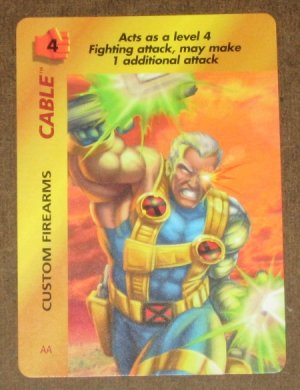 Marvel OverPower (Fleer 1995) - Cable Custom Firearms Card EX-MT