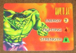 Marvel OverPower (Fleer 1995) - Hulk Hero Card EX-MT